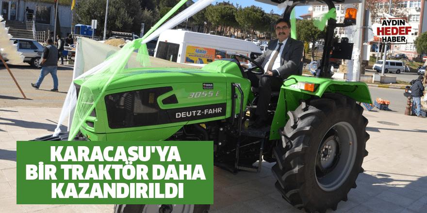 Karacasu'ya bir traktör daha kazandırıldı