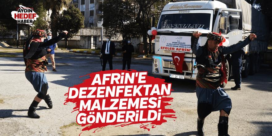 Afrin'e dezenfektan malzemesi gönderildi