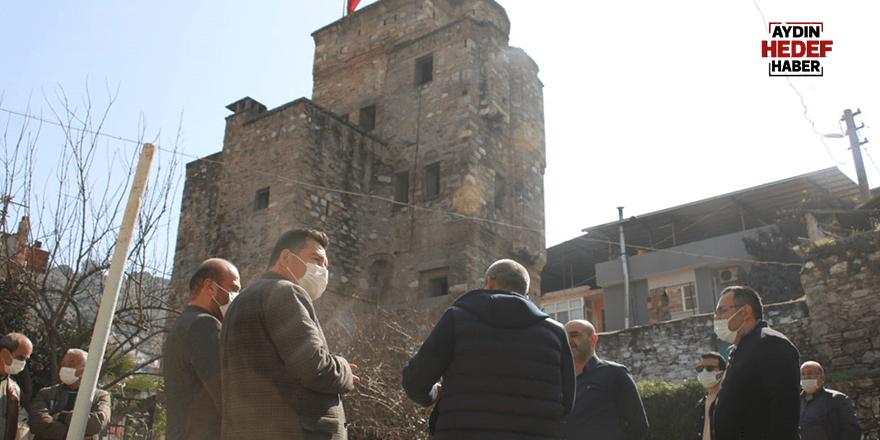 Cihanoğlu Kulesi ve Konağı'nda çalışma sürüyor