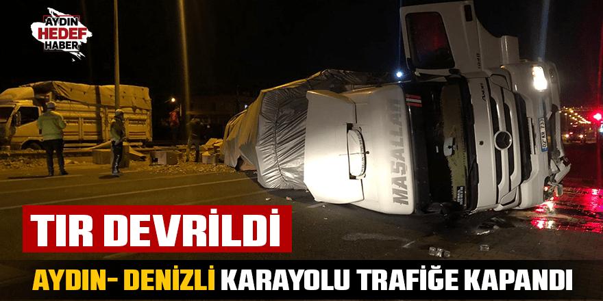 Aydın- Denizli karayolu trafiğe kapandı