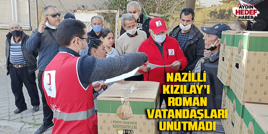 Nazilli Kızılay'ı Roman vatandaşları unutmadı