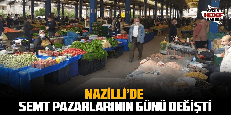 Nazilli'de semt pazarlarının günü değişti