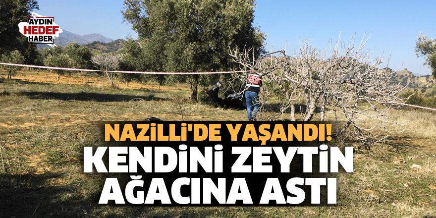 Nazilli'de yaşandı! Kendini zeytin ağacına astı