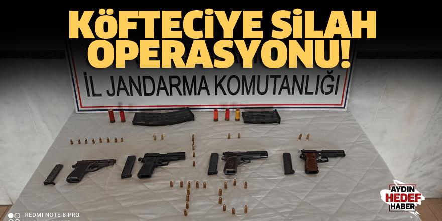 Köfteciye silah operasyonu!