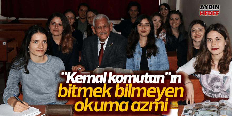 """Kemal komutan""ın bitmek bilmeyen okuma azmi"