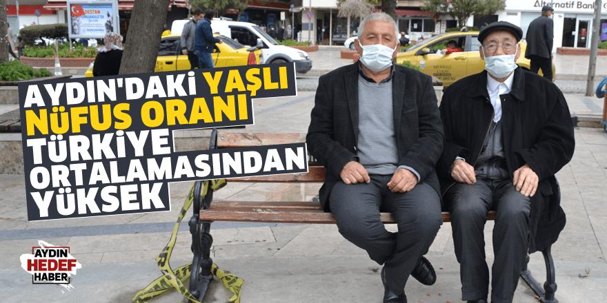 Aydın'daki yaşlı nüfus oranı Türkiye ortalamasından yüksek