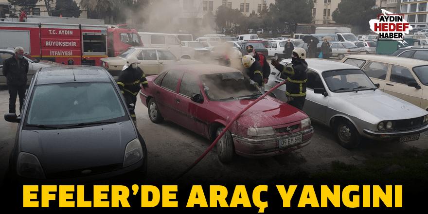 Efeler'de araç yangını