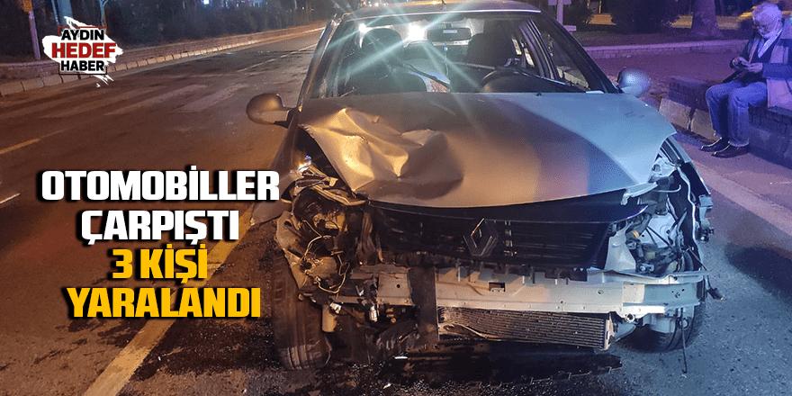 Otomobiller çarpıştı 3 kişi yaralandı