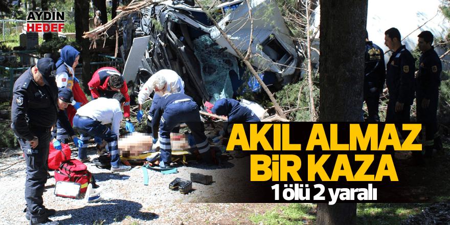 Akıl almaz bir kaza: 1 ölü 2 yaralı