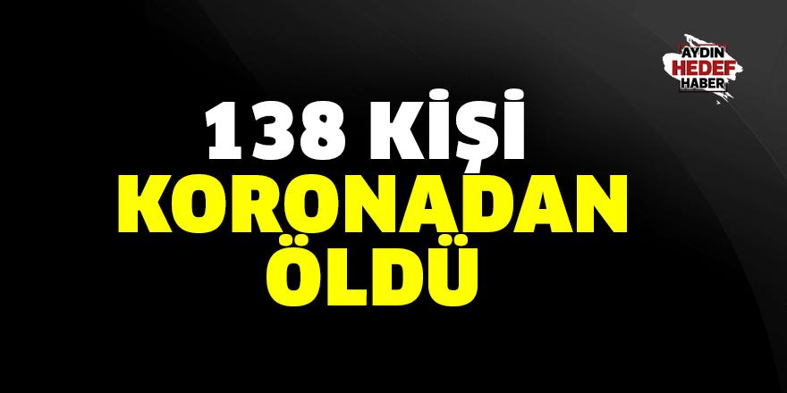 138 vatandaş koronavirüsten öldü