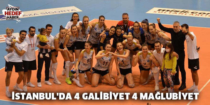 İstanbul'da 4 galibiyet 4 mağlubiyet