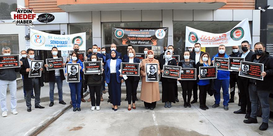 Aydın'daki kadın cinayetine tepki