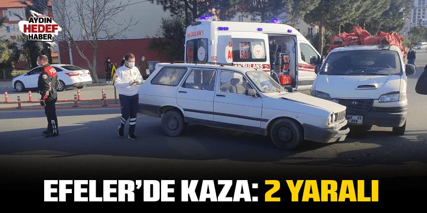 Efeler'de kaza: 2 yaralı
