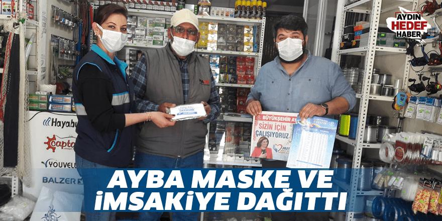 AYBA maske ve imsakiye dağıttı