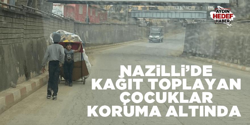 Nazilli'de kağıt toplayan çocuklar koruma altında