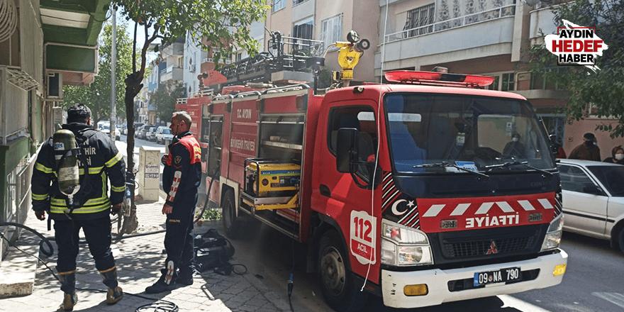 Nazilli'de çıkan yangın korkuttu