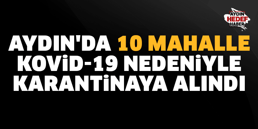 Aydın'da 10 mahalle karantinaya alındı