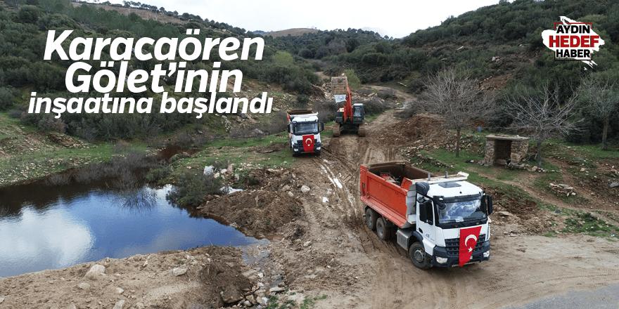 Karacaören Gölet'inin inşaatına başlandı