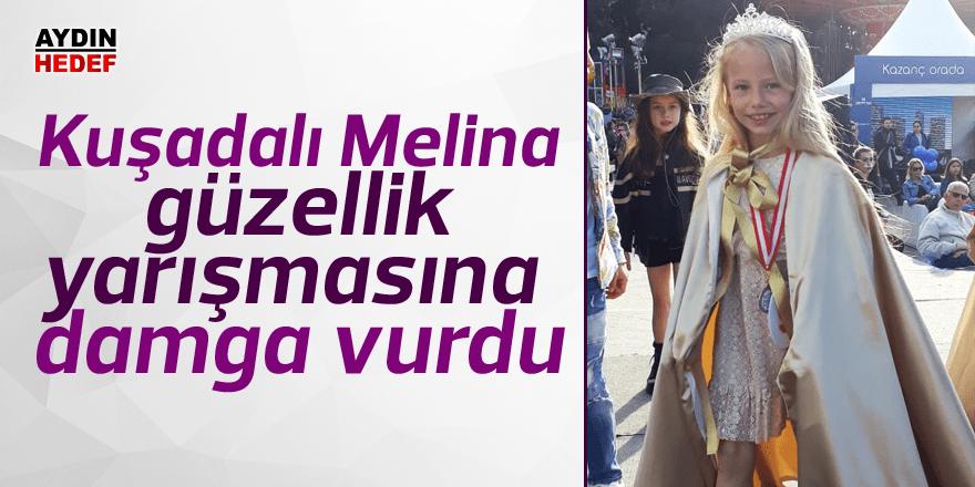 Kuşadalı Melina güzellik yarışmasına damga vurdu