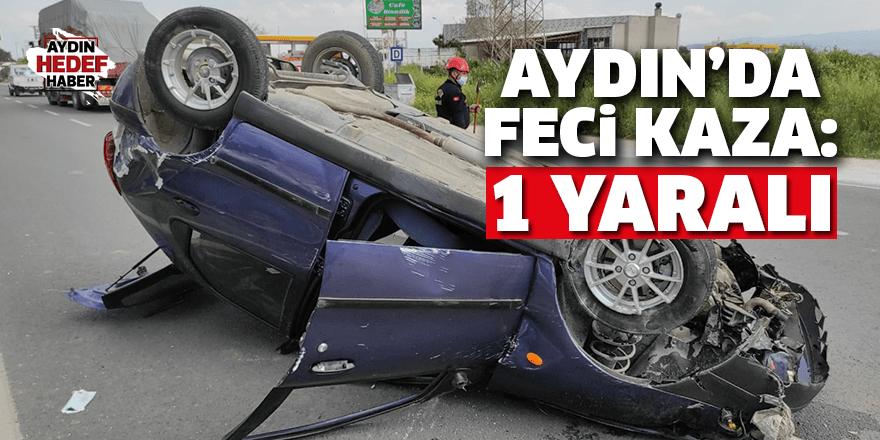 Otomobil devrildi: 1 yaralı
