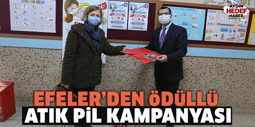 Efeler'den ödüllü atık pil kampanyası