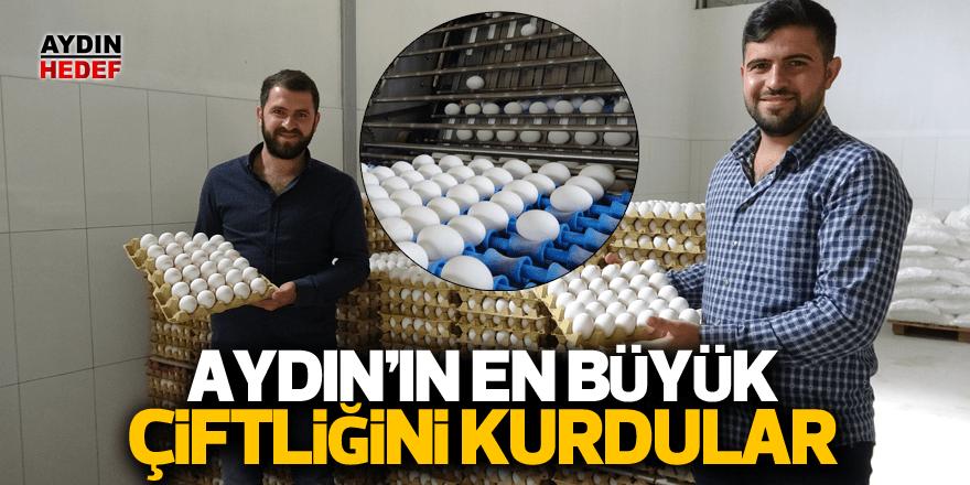 İki kuzen Aydın'ın en büyük çiftliğini kurdu