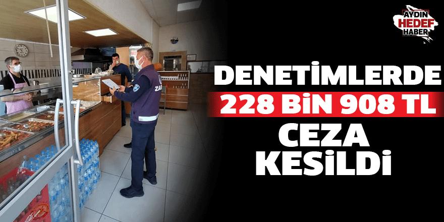 Denetimlerde 228 bin 908 lira ceza kesildi