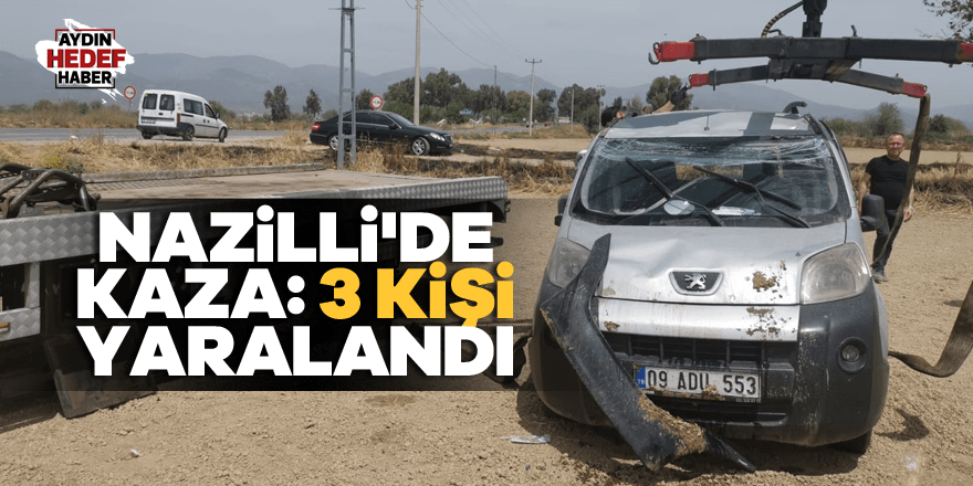 Takla atan otomobildeki 3 kişi yaralandı