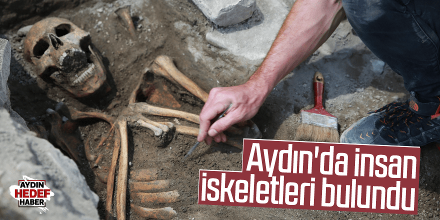 Kazı çalışmalarında insan iskeletleri bulundu