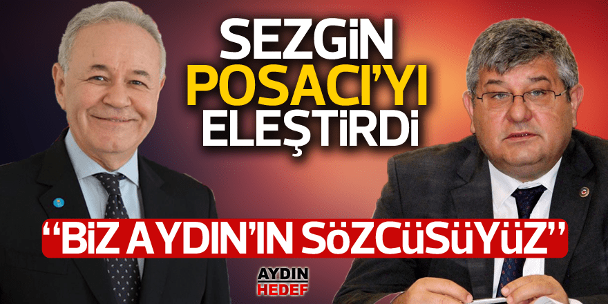 """Adnan Sezgin """"Biz Aydın'ın sözcüsüyüz"""""""