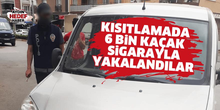 Aydın polisinden kaçamadılar! 6 bin kaçak sigarayla yakalandılar