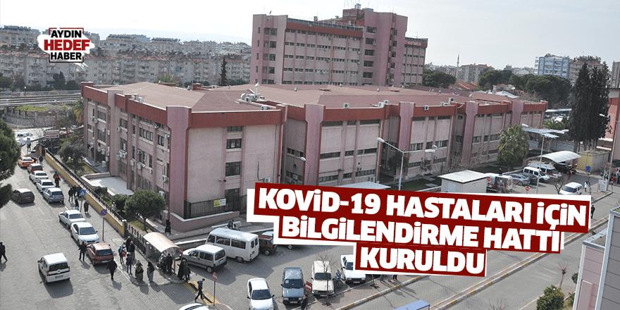Kovid-19 hastaları için bilgilendirme hattı kuruldu