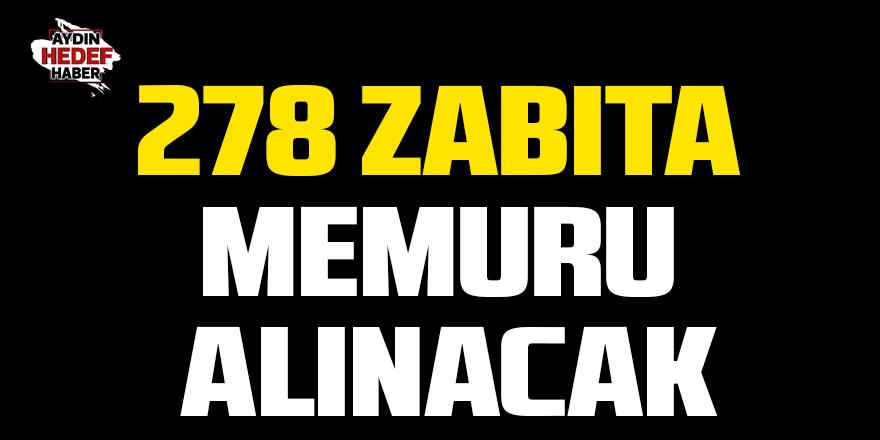 278 zabıta memuru alınacak