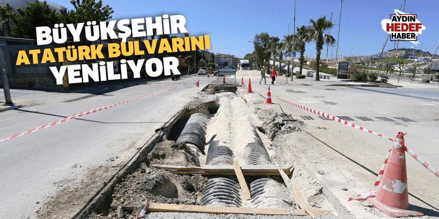 Atatürk Bulvarı yenileniyor