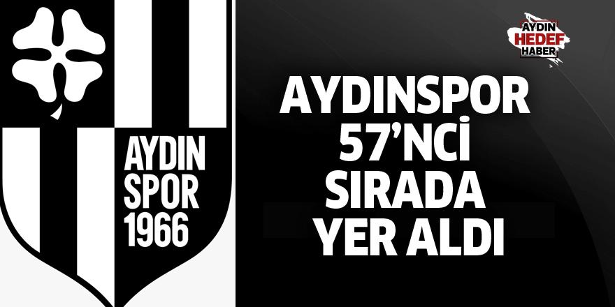 Aydınspor 57'nci sırada yer aldı