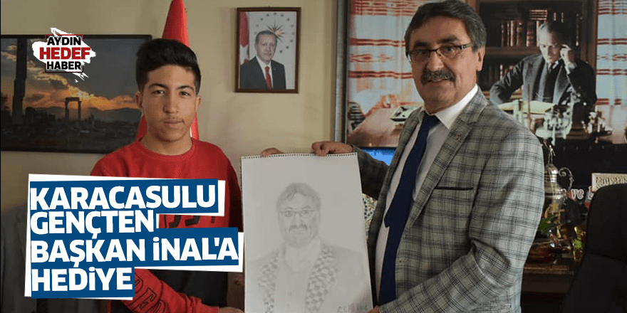 Karacasulu gençten Başkan İnal'a hediye