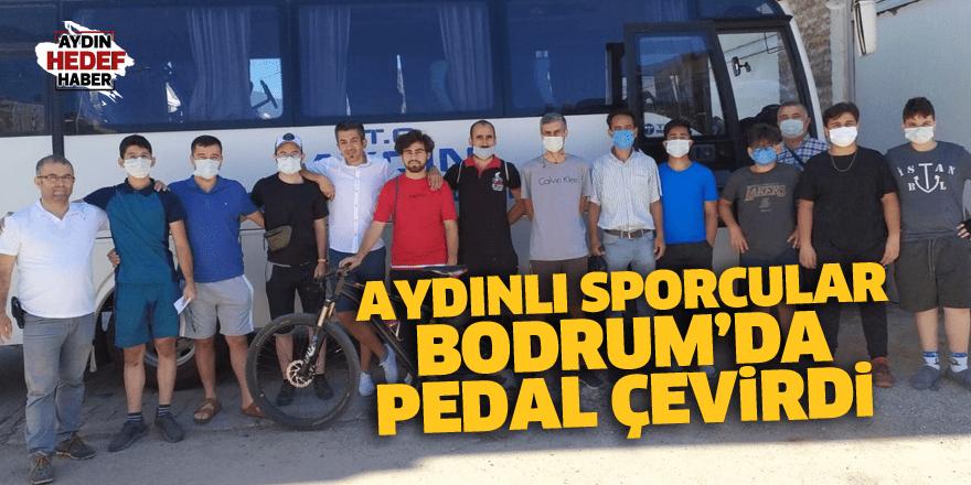 Aydınlı sporcular Bodrum'da pedal çevirdi