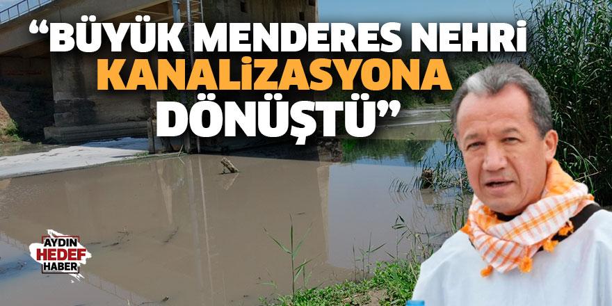 """""""Büyük Menderes Nehri kanalizasyona dönüştü"""""""