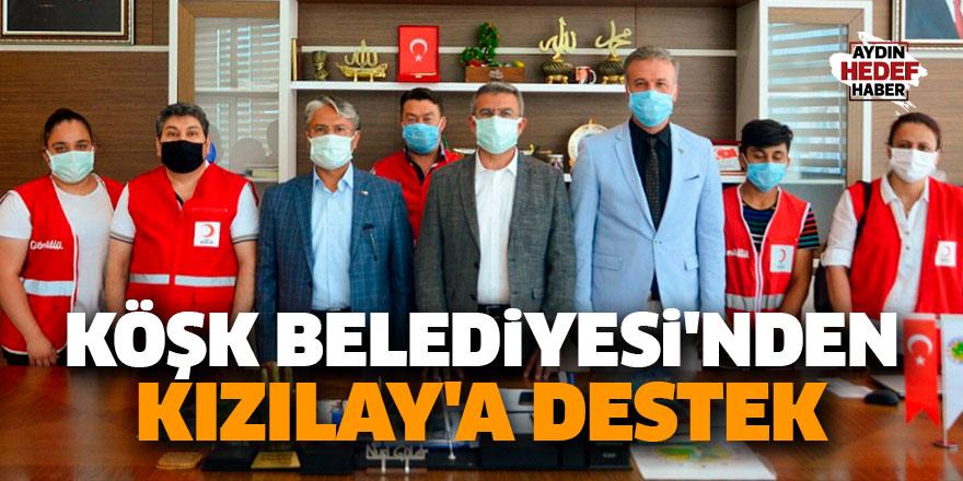 Köşk Belediyesi'nden Kızılay'a destek