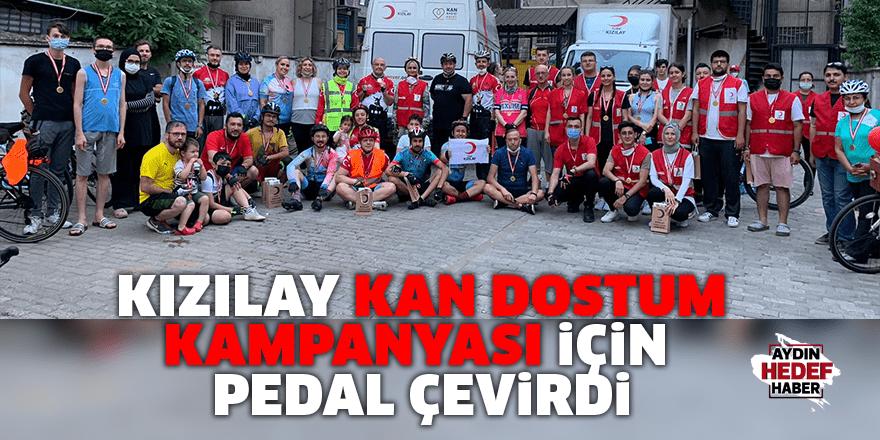 Kızılay Kan Dostum Kampanyası için pedal çevirdi