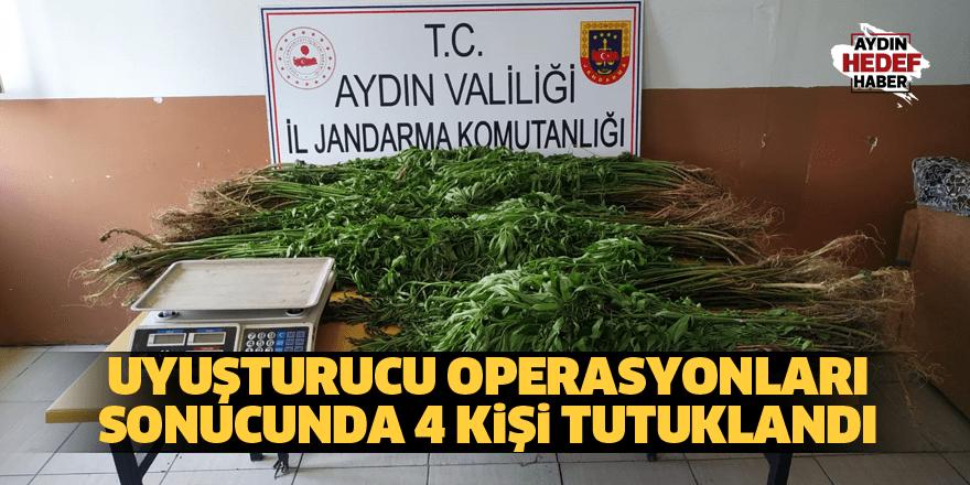 Uyuşturucu operasyonları sonucunda 4 kişi tutuklandı