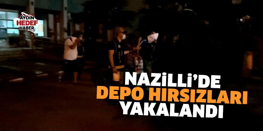 Nazilli'de depo hırsızları yakalandı
