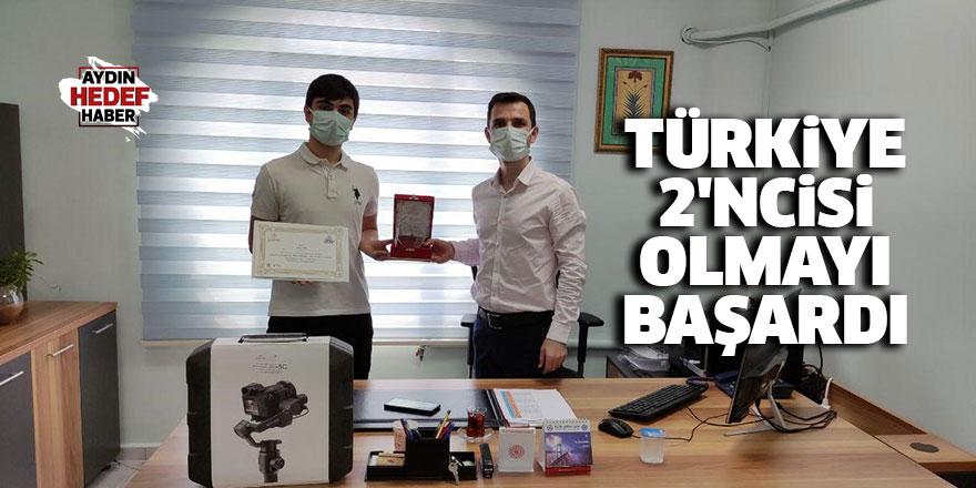 Türkiye 2'ncisi olmayı başardı