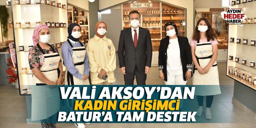 Vali Aksoy'dan kadın girişimci Batur'a tam destek