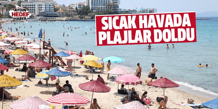 Sıcak havada plajlar doldu