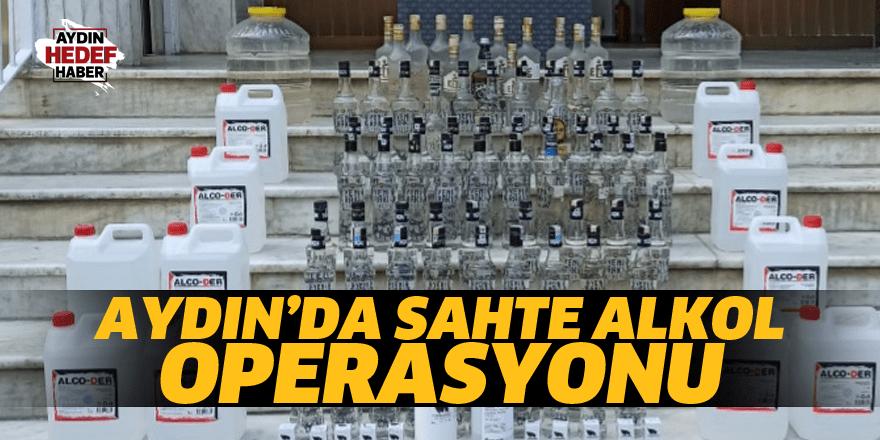 Aydın'da sahte alkol operasyonu
