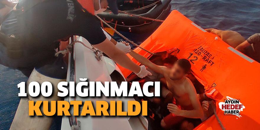 100 sığınmacı kurtarıldı