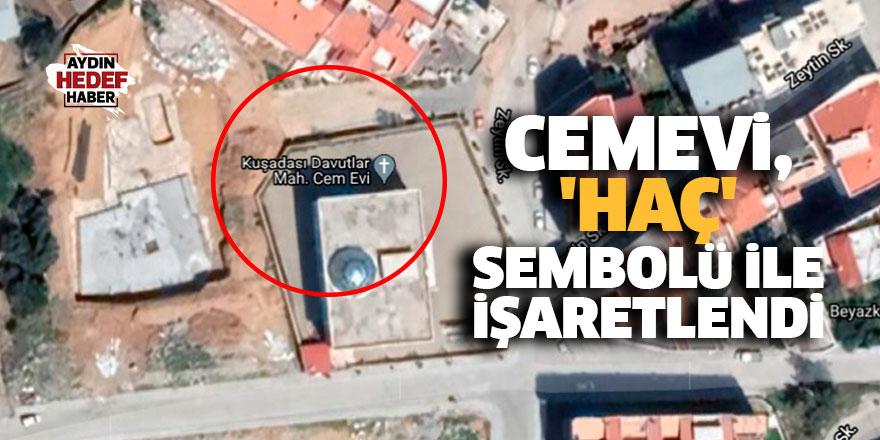 Aydın'daki Cemevi, 'haç' sembolü ile işaretlendi