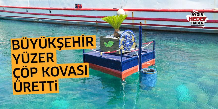 Büyükşehir 'yüzer çöp kovası' icat etti