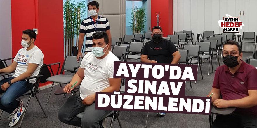 AYTO'da sınav düzenlendi